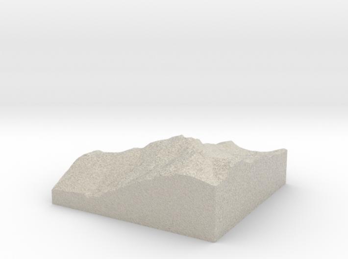 Model of Whistler Mountain 3d printed