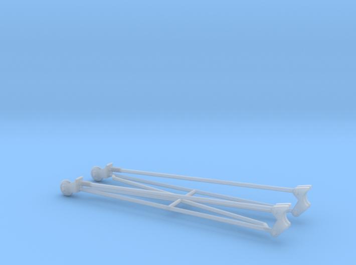wheelie bars 1/25 3d printed