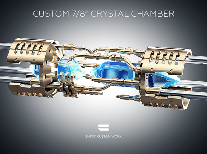 """Custom CC 7/8"""" Part V2_D 3d printed Without Custom Crystal Energy Ports"""