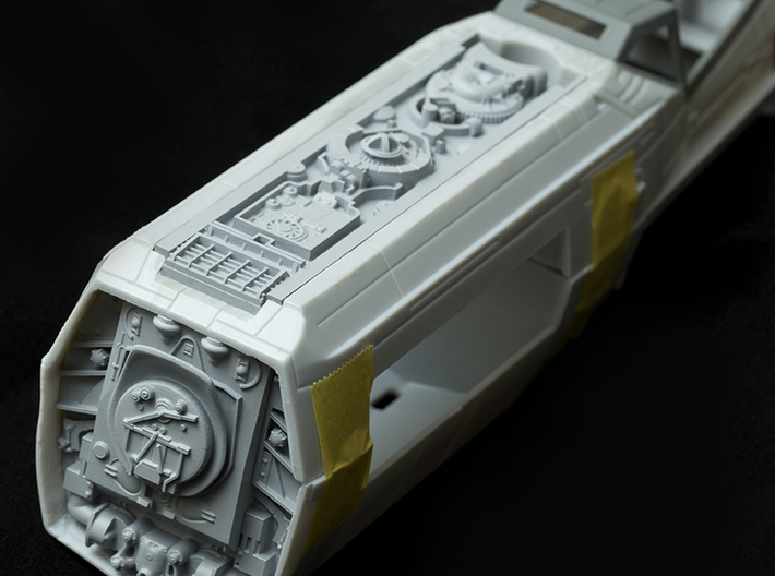 Back 3-piece accurate set for Revell 1/29 X-Wing 3d printed