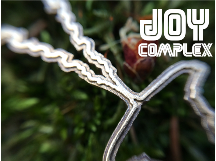 """Japanese """"I Love You"""" Sound Wave Pendant 3d printed"""