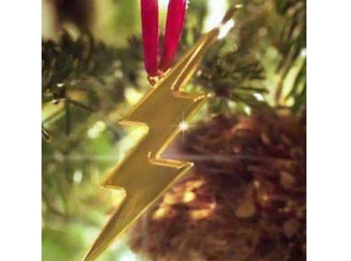 THE FLASH - Lightning Bolt Christmas Tree Ornament 3d printed Screenshot from THE FLASH