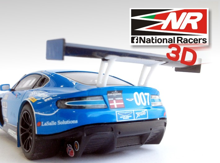 3D Rear wing support SuperSlot AstonMartin Vantage 3d printed