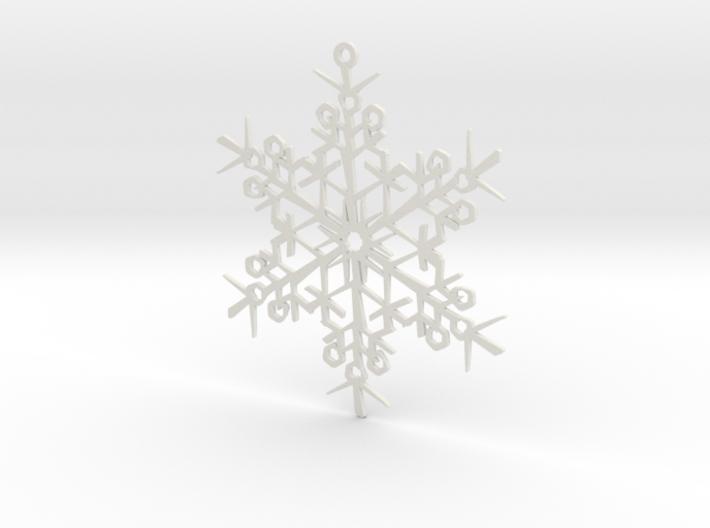 Organic Snowflake Ornament - Finland 3d printed