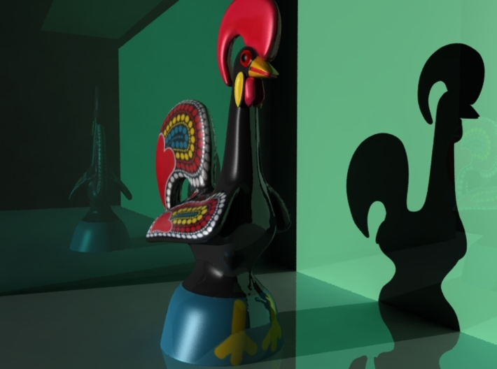 Rooster of Barcelos Legend 3d printed
