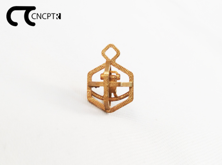 Concept R Caged Bird Charm 3d printed