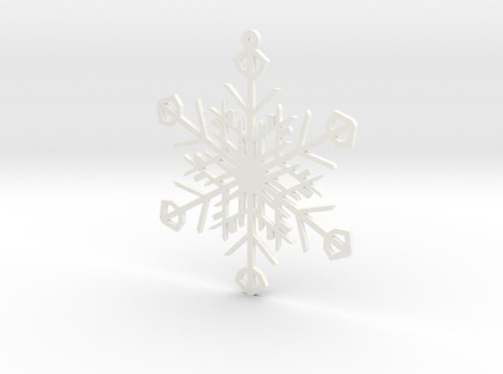 Latticework Snowflake Ornament 3d printed