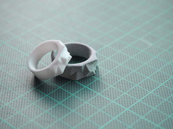 Triangulated Ring - 17.5mm 3d printed
