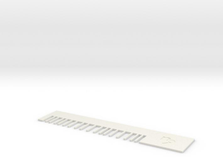 Capricorn comb 3d printed