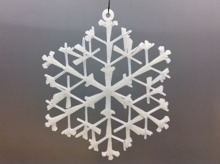 "Organic Snowflake Ornament - Canada 3d printed 3D printed FDM prototype of the ""Canada"" ornament"