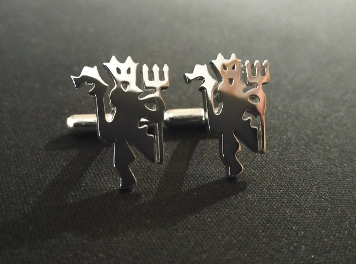 Red Devils Cufflink Set 3d printed