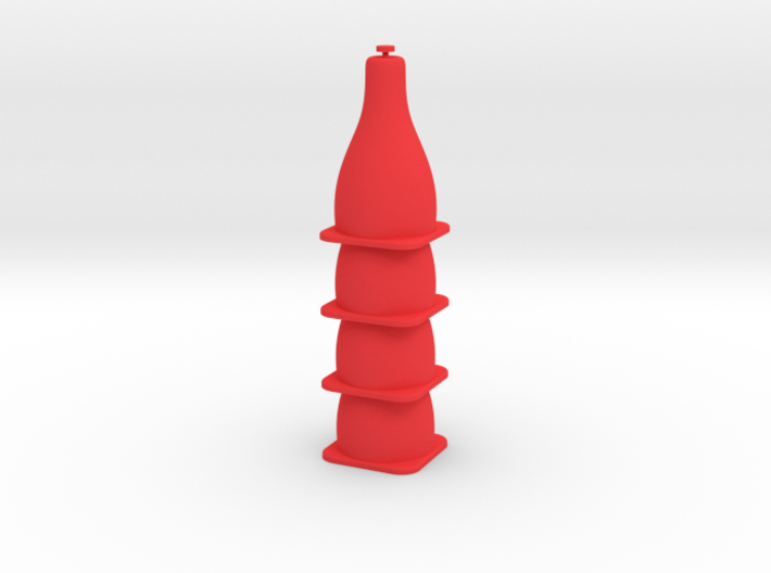 Tiny Traffic Cone 4 Pack 3d printed