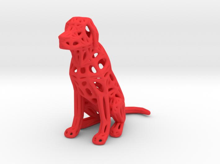 Voronoi Dog Sitting 3d printed Voronoi Dog Sitting