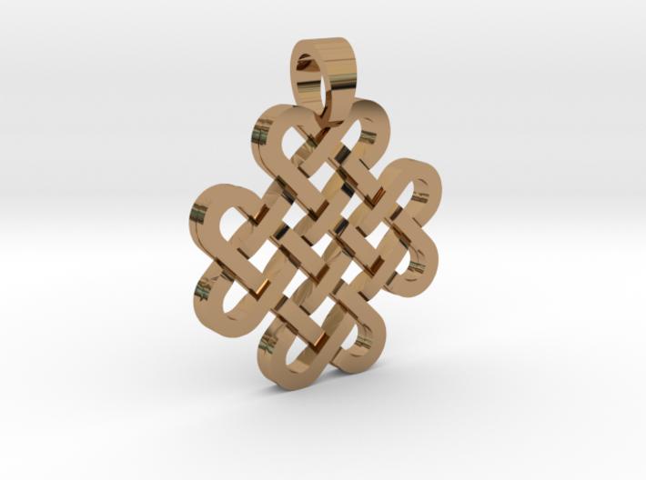 Knot [pendant] 3d printed