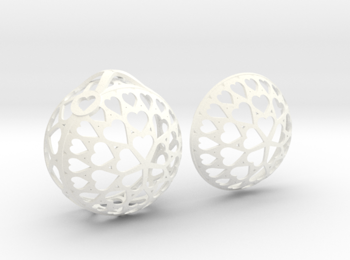 Customizable Christmas Ornament - Hearts 3d printed