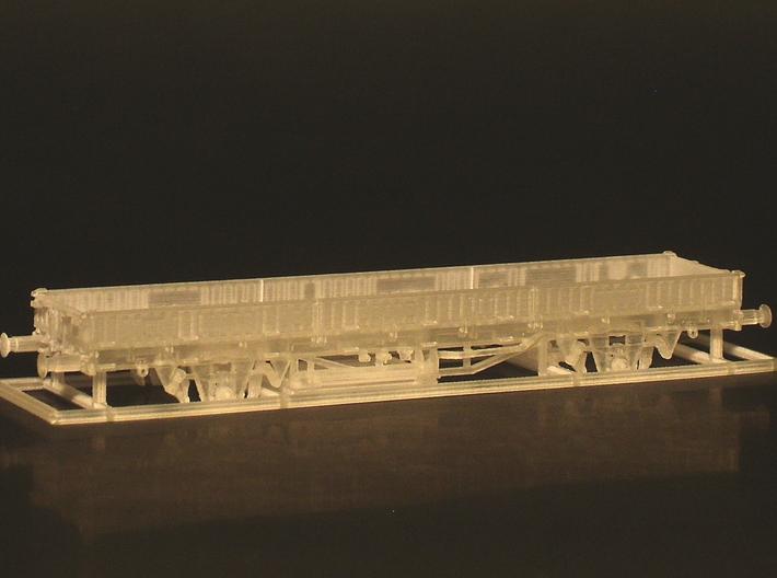 2102 1/160 Fährboot-Rungenwagen Rbmms 55 der DB 3d printed Rohmodell (Lieferumfang)