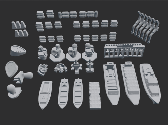 HMS Blake Command Helicopter Cruiser C99. 1/700 3d printed The Parts.