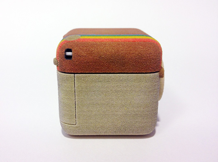 Instagram Style 3D Camera 3d printed Full Color Sandstone  - 40 mm