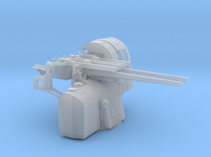 1/144 IJN Type 89 127mm Twin Mount 3d printed