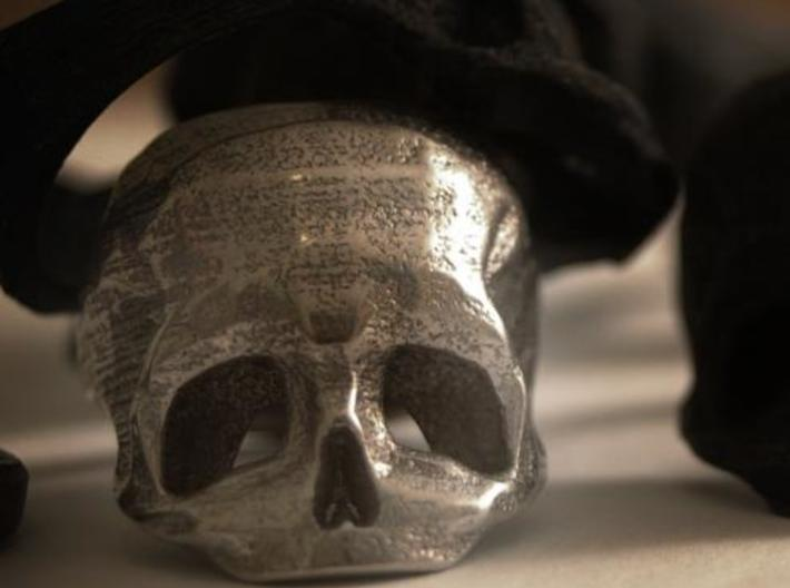 Skull Ring US 12 3d printed Skull ring in Stainless Steel