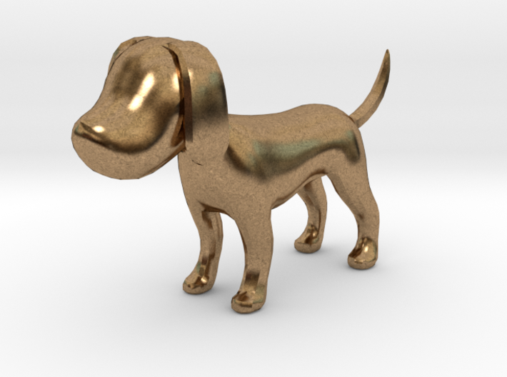 Yellow Earthy Dog 3d printed