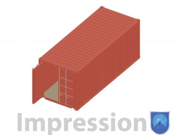 20 ft shippingcontainer 1:72 3d printed Impression of a shippingcontainer