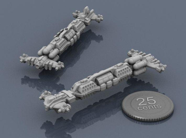 Syndicate Bruiser BC 3d printed Renders of the model, with a virtual quarter for scale.