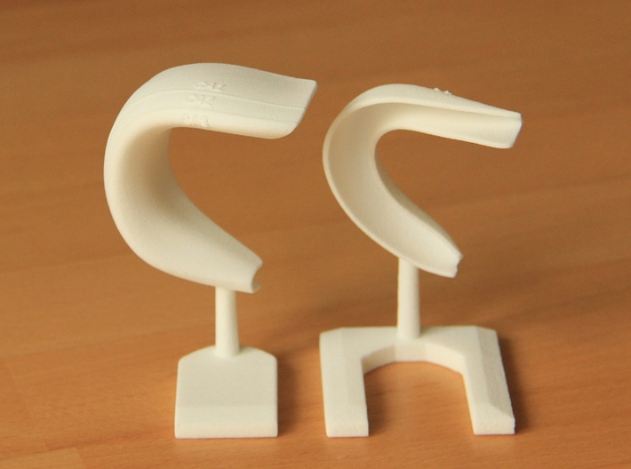 Hippocampus (Dentate Gyrus, CA3, CA2, CA1) 3d printed Separated parts, frontal view