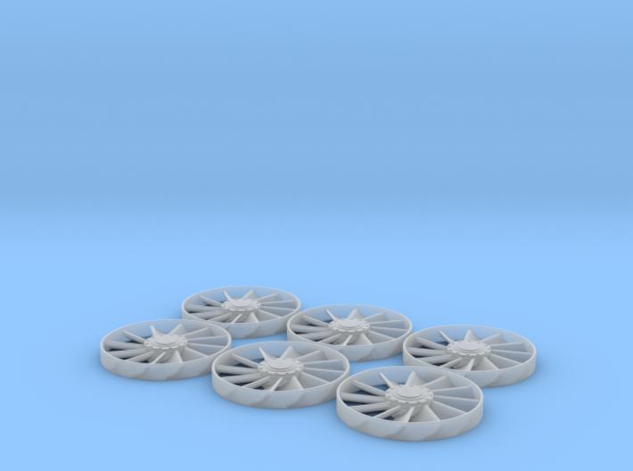 6 each Deago Exhaust Fans 3d printed