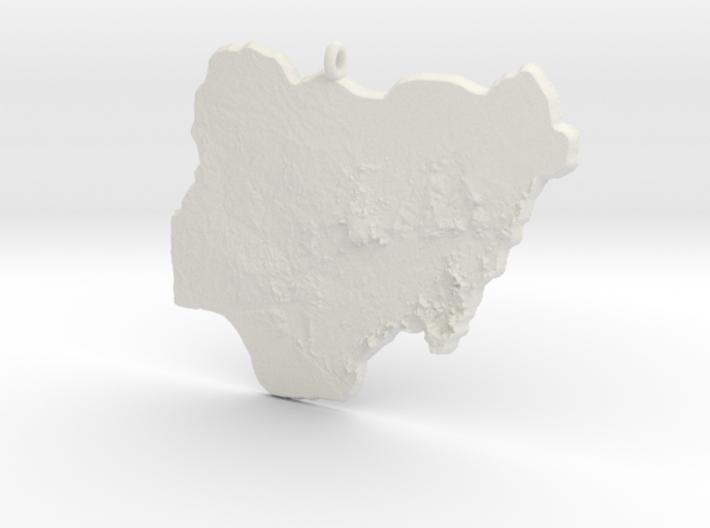 Nigeria Christmas Ornament 3d printed