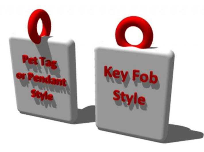 Police Badge Pet Tag / Pendant / Key Fob 3d printed Choose from 2 different orientations for the eyelet