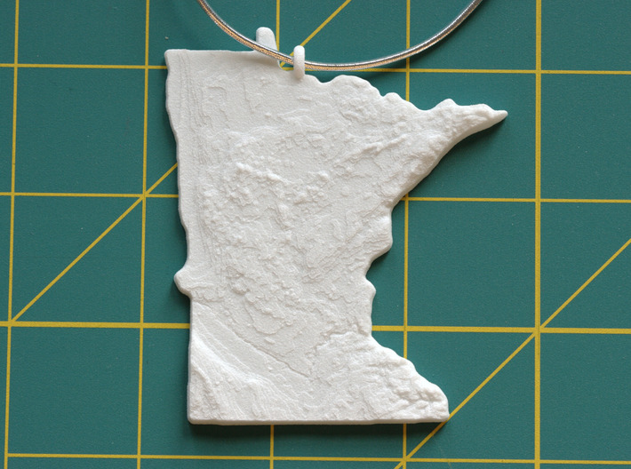 Minnesota Christmas Ornament 3d printed