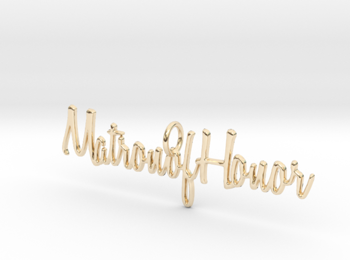 Matron of Honor Necklace Pendant 3d printed