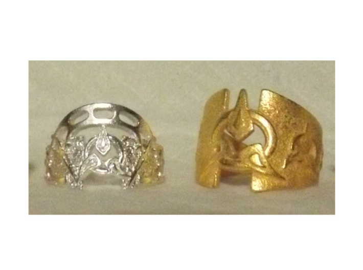 To Wed A Warrior Ring 3d printed Left-  Dahar Master, Right- To Wed A Warrior