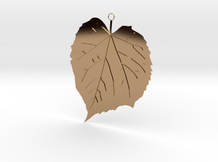 Elm Leaf Pendant 3d printed