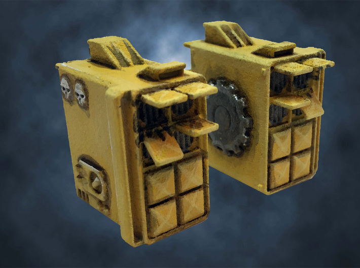 Dreadnought Missile launcher arms, customizable 3d printed Back view (painted)