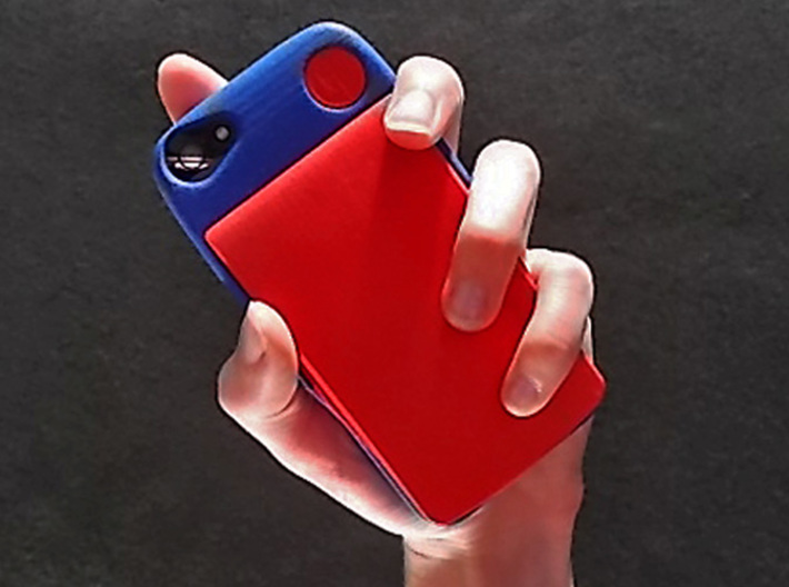 iPhone 5S kit-case 3d printed iPhone 5S kit-case shown in Royal Blue with ULTRA SLIM Wallet Accesory