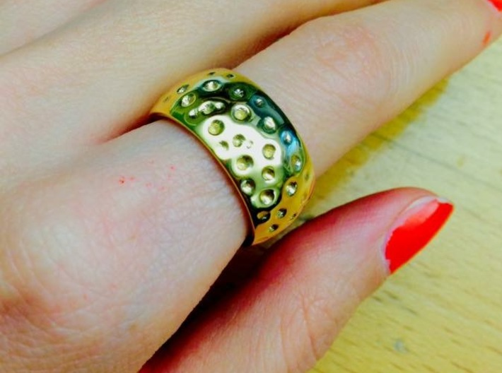 Chunky Heart Ring s6 3d printed