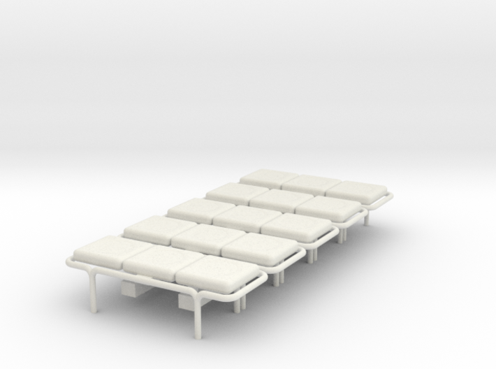 MOF Bench - 3 Cushion(5) - 72:1 Scale 3d printed