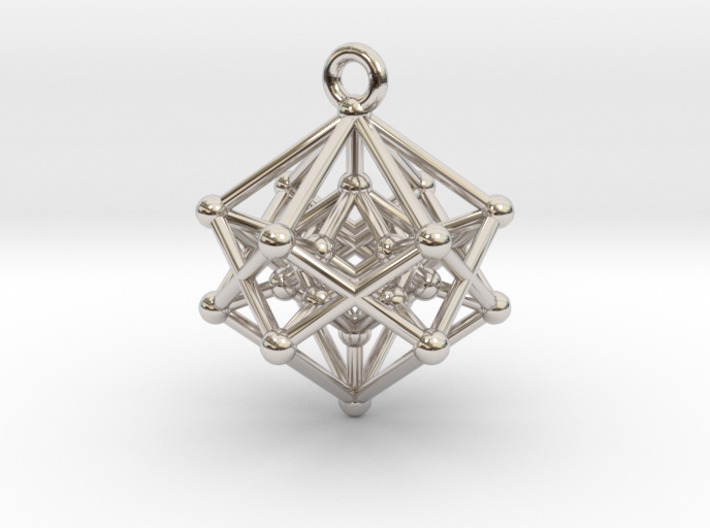 Hyperpoly Pendant 3d printed
