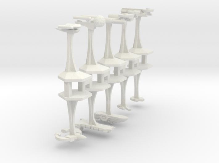 "Microfleet ""Fodder"" Ships (10pcs) 3d printed"