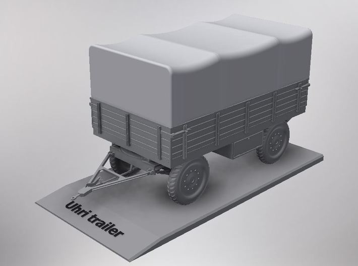 1/72nd scale Uhri trailer with canopy 3d printed