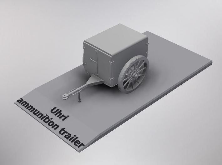 1/72nd scale Uhri ammonution trailer for horse dra 3d printed