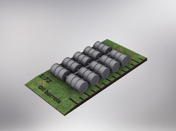 1/72nd Scale Oildrums (10 pieces) 3d printed