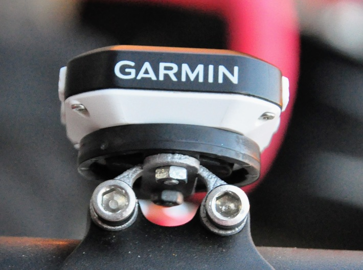 Garmin Stem Top Mount, 20mm Spacing 3d printed Garmin Edge 25 attached to mounted bracket