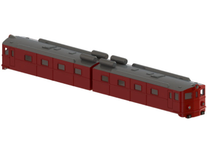 Swedish SJ electric locomotive type Dm in original 3d printed CAD-model