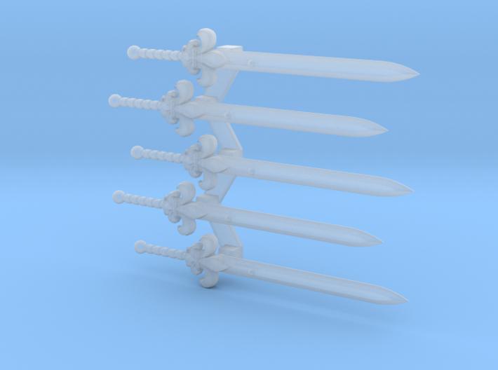 Lys-pattern Energy Sword 3d printed