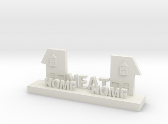 Home Neat Home Logo Figurine 3d printed