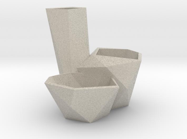 Crystal Planter 3d printed