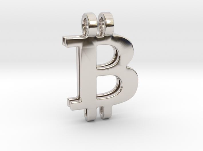 Bitcoin Pendant 3d printed
